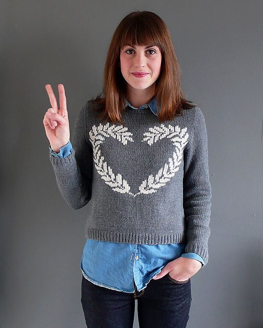 Ravelry: Peace and Love sweater pattern by anna ravenscroft
