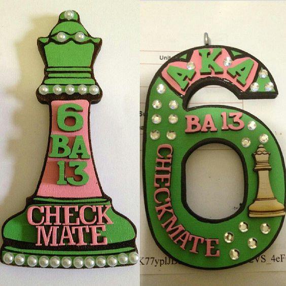 Alpha Kappa Alpha custom tikis