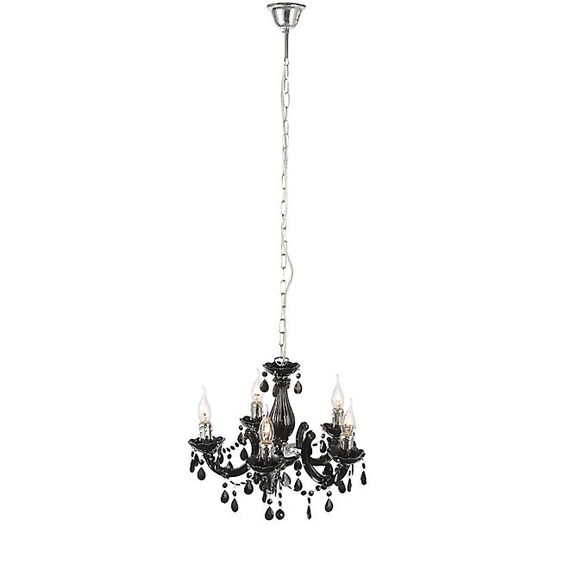 Miya suspension lustre pampilles noir d44cm luminaires pinterest - Lustre pampilles noir ...