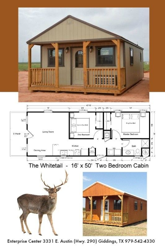 16 X 50 Two Bedroom Cabin 800 Sq Ft Includes All Appliances And You Can Customize All Finishes Shed To Tiny House Shed House Plans Tiny House Cabin