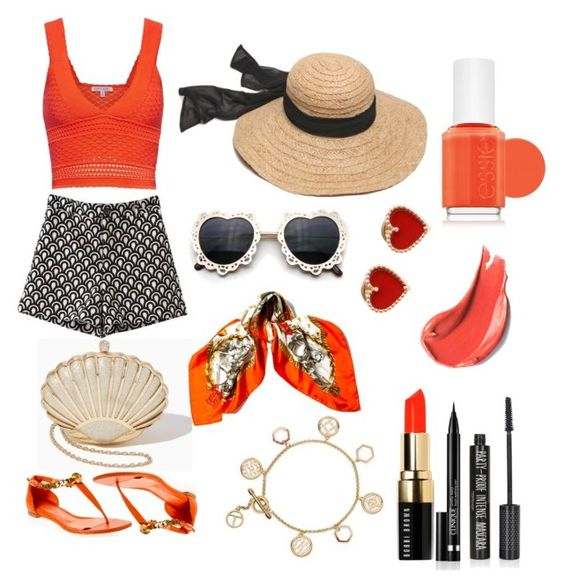 Shinning like sunshine, sweet as an orange by jewelry-artisan on Polyvore featuring Torn by Ronny Kobo, Chicnova Fashion, Alexander McQueen, Tory Burch, Van Cleef & Arpels, Hermès, Bobbi Brown Cosmetics, Topshop, Clinique and Essie