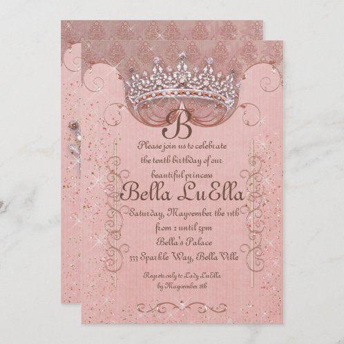 Create Your Own Invitation Zazzle Com In 2021 Rose Gold Invitations Diamond Party Pink Invitations