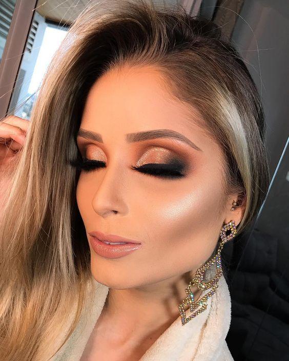 Maquiagem 2020: Novas tendências + 100 Fotos inspiradoras! | Maquiagem  festa, Maquiagem madrinha, Maquiagem noiva