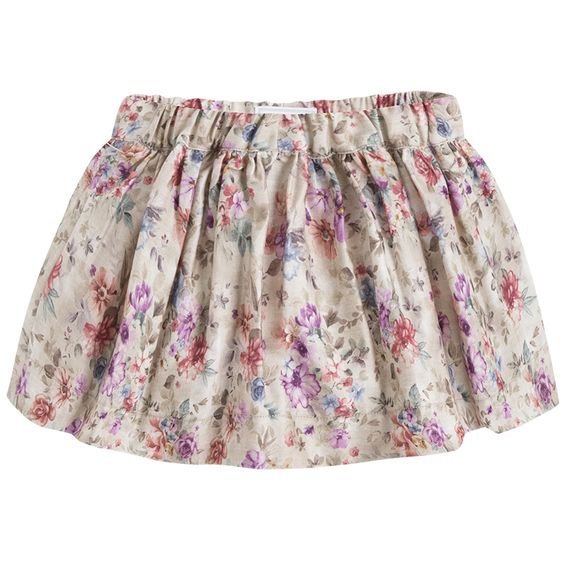 Falda estampada de flores