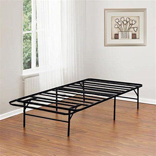 Bed Frame Platform Folding Bed Frame Twin Metal Base Mattress
