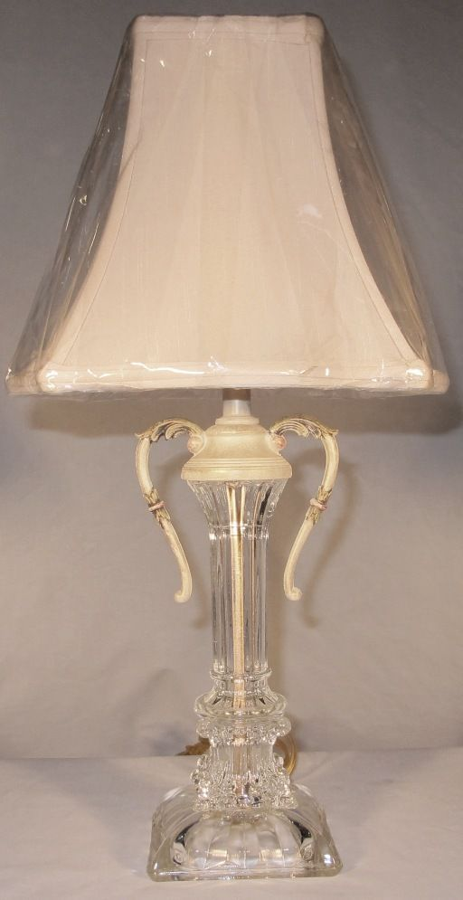 Antique Vintage Art Deco Crystal Lamp 20 H Graceful Metal Handles Silk Lamp Shade Vintage 1940 Antique Lamp Shades Diy Upcycled Lamp Shade Wall Lamp Shades