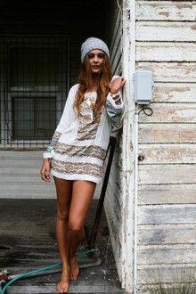 Decoder Day Dress - White & Decoder
