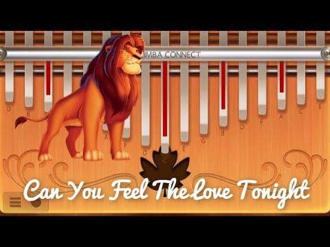 Can You Feel The Love Tonight Kalimba Tutorial Easy Youtube