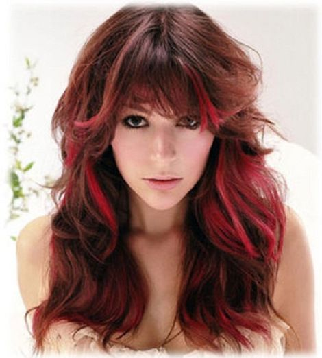Placement! And if the color was a few shades light than her brown hair color this would be exactly what I want.