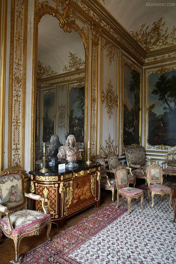 the princes room chateau de chantilly old world pinterest design chateaus and decor. Black Bedroom Furniture Sets. Home Design Ideas