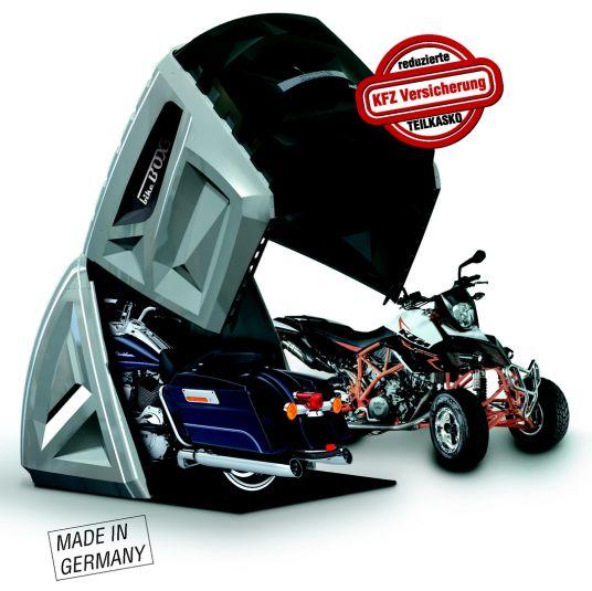 Bikebox 24 Gmbh Bietet Innovative Garagen Zur Sicherheit Ihres Motorrades Quad S Atv E Bike Oder Elek Motorcycle Shed Motorcycle Garage Motorcycle Shed Ideas