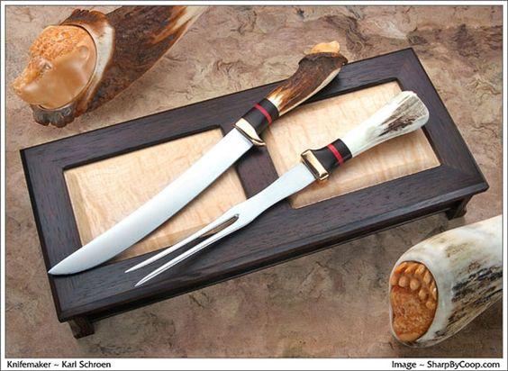 Karl Schroen #accshow #handmade #knives #knife #kitchen #craft #finecraft