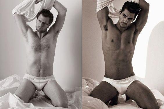 Dolce  Gabbana, Homem Normal x David Gandy