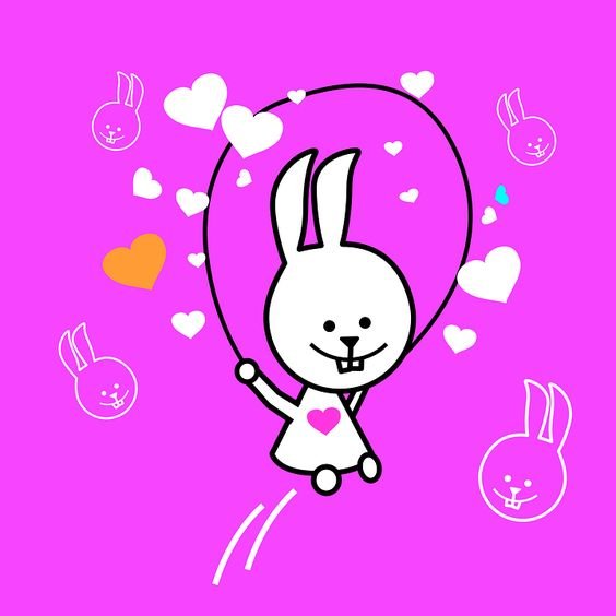 Bunny, Jogar, Fundo Rosa, Coelhinhos, Coelhos, Pequenas