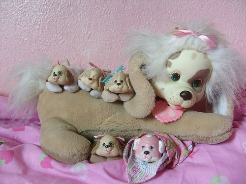 stuffed dog with puppies inside - Google Search