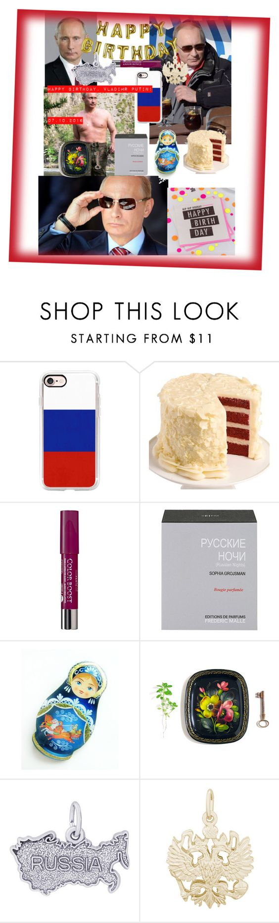 """""""С Днём рождения, Владимир Владимирович!🎂💗👏🏻"""" by jesse-je ❤ liked on Polyvore featuring Talking Tables, Casetify, We Take the Cake, Bourjois, Frédéric Malle, Rembrandt Charms and Ginger Ray"""