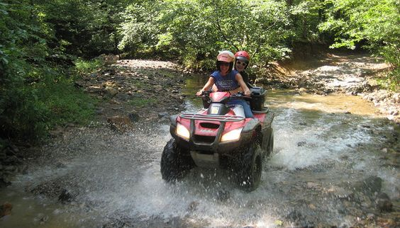 Bring your ATVs and explore the Ouachita mountains with Wolf Trail Cabins! You don't even have to trailer to the trailheads - they're a 3 minute ride away!  www.wolftrailcabins.com #wolftrailcabins