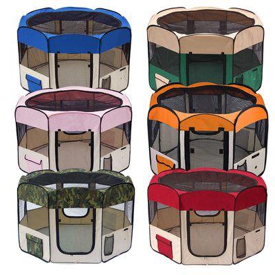600D Oxford Pet Puppy Dog Cat Cage Playpen 2 Door Mini Pig Exercise Crate 4 Size   eBay