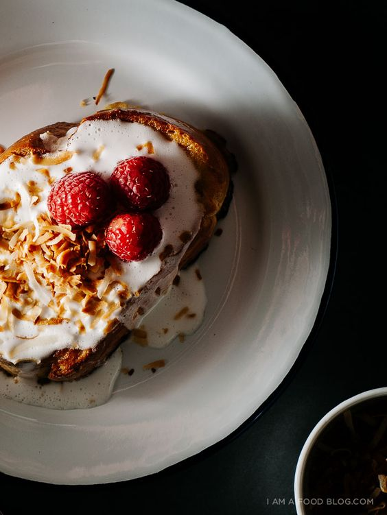 tres leches coconut french toast
