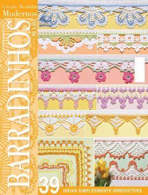 Bordados Modernos Barradinhos nº 06: Borders Inserts, Crochet Edgings, Easy Crochet, Edgings Borders