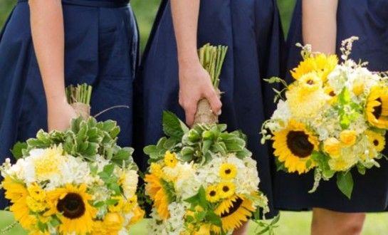 Decoração de Casamento : Paleta de Cores Azul e Amarelo