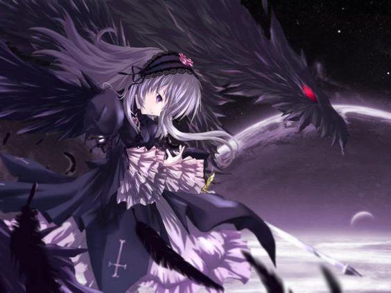 Anime Girl Sword Fight Blood