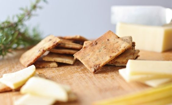 Sweet and savory almond flour crackers