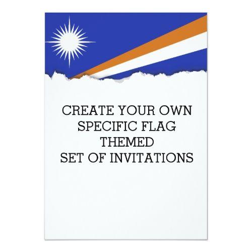 Marshall Islands Flag Invitation Marshall Islands Flag Personalized Custom Flag