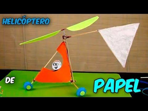 Como Hacer Un Helicóptero De Papel Casero Que Vuele Con Motor A Goma Juguete Youtube Como Hacer Un Helicoptero Juguetes Cómo Hacer