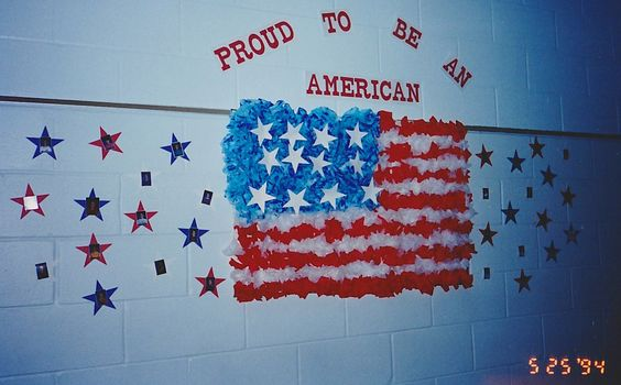 Large flag made of tissue paper for Fourth of July, Flag Day, Veteran's Day, Election Day