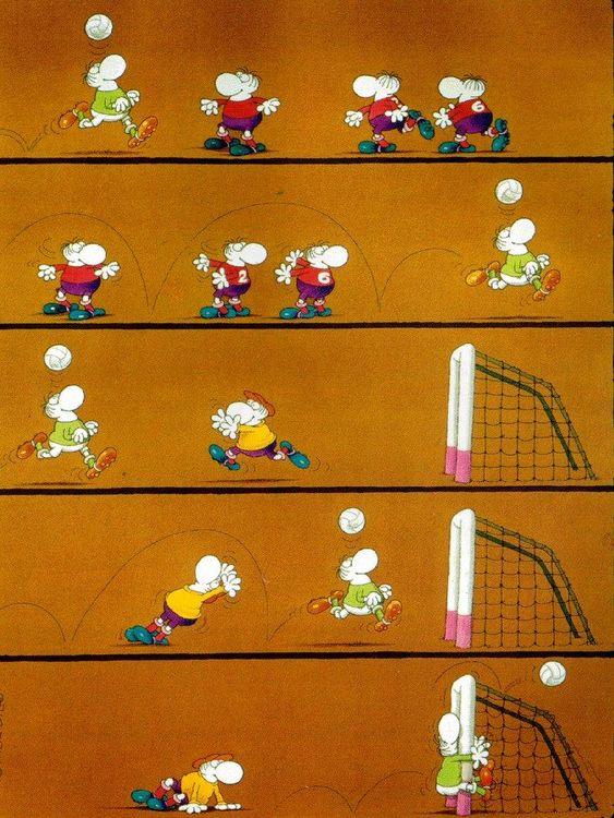 El mundo de Mordillo y el fútbol