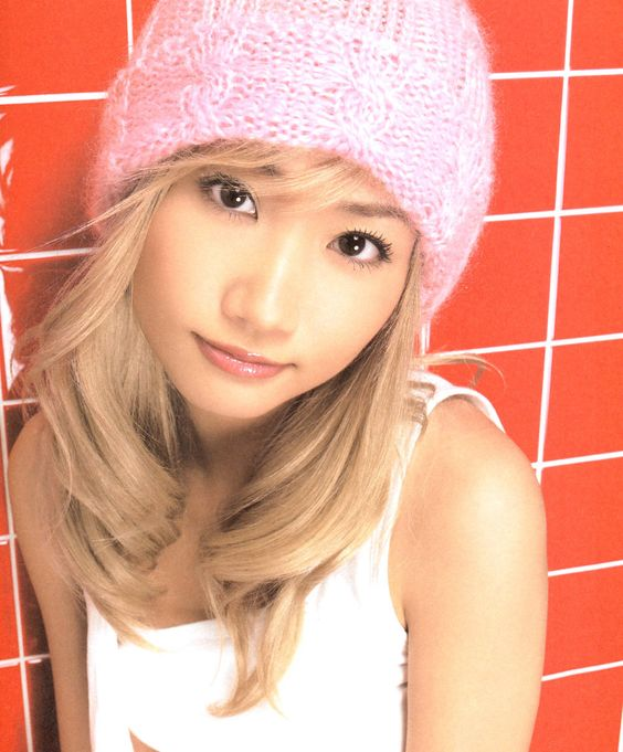 ピンクのニット帽の大塚愛