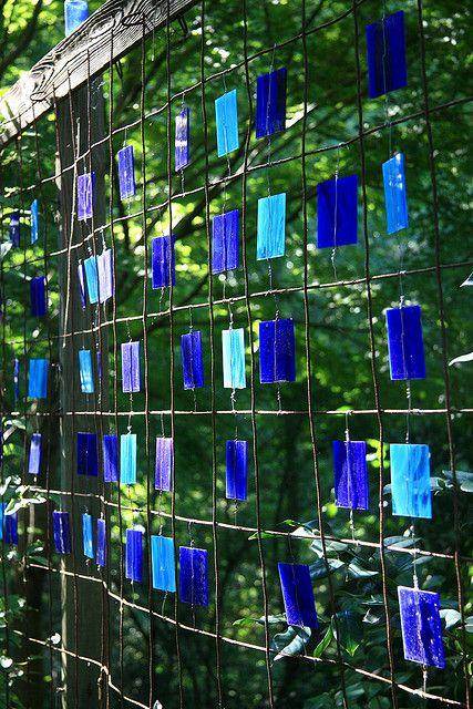 Glass im Garten