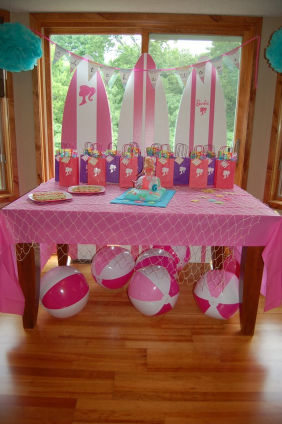 barbie birthday. Pres is having a pool party.
