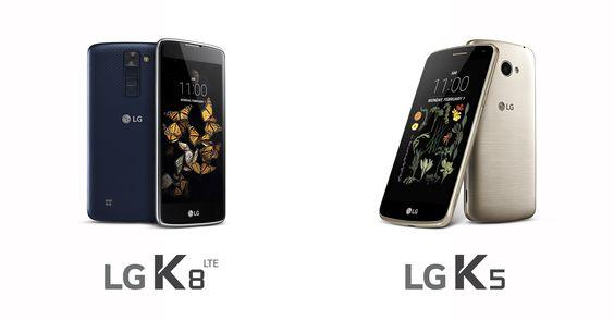 LG K5 ve LG K8 Akıllı Telefonlar