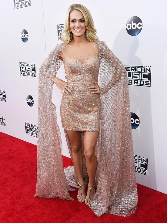 Carrie Underwood Best Dressed And American Music Award On