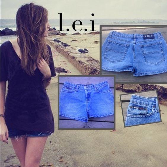 Cute Vintage denim shorts LEI denim jean shorts size 5..: stain free lei Shorts Jean Shorts
