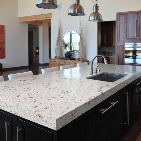 Staging Kitchen Counters: Lowes' Sensa Blanco Gabrielle
