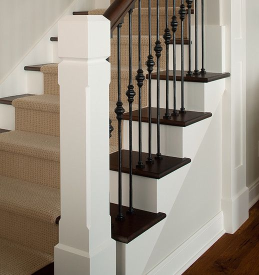 Beautiful Interior Staircase Ideas And Newel Post Designs: Traditional Staircase Wrought Iron Stairs Design, Pictures