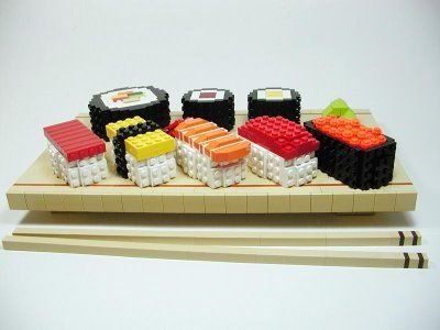 This gallery covers two of our favorite things at once, Lego AND sushi. Could it get any better right now? Only if the Lego was edible and tasted good, otherwise no.