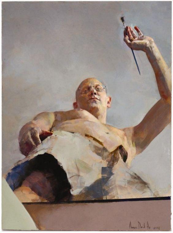"Amnon David Ar; ""Self Portrait in Foreshortening"":"