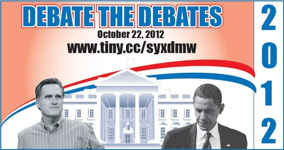 Debate the Debate tonight (10-22-12)