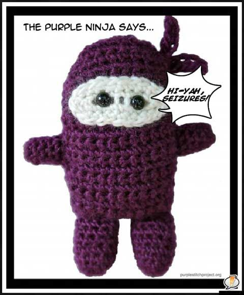Purple Stitch Project - crochet, knit, or sew purple toys for children with seizure disorders