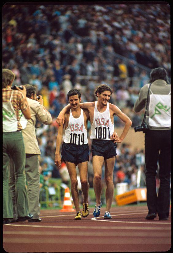 オニツカタイガーを着用しオリンピックに出場するケニー・ムーア