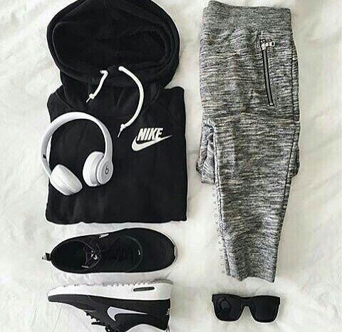 Imagen de nike, outfit, and black