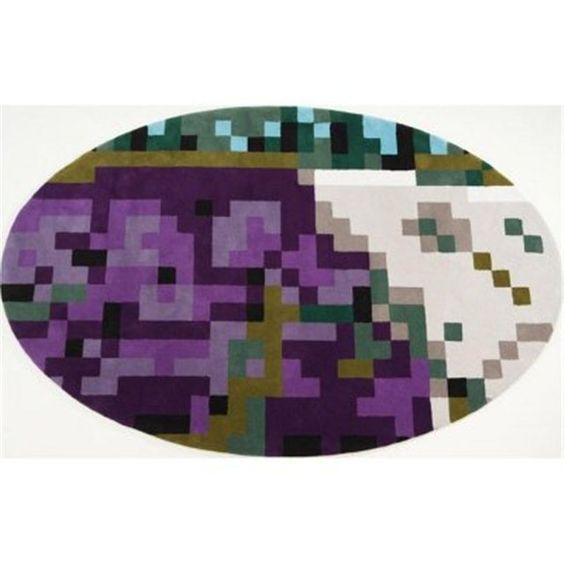 Tapis forme ovale violet Japan