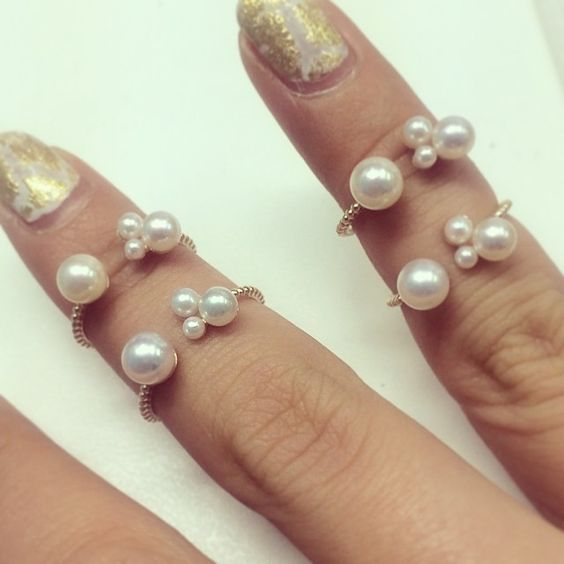 Pearl!Pearl!Pearl!Pearl!!!!!!! Ring!Ring!Ring!Ring!!!!!!! #pearl #pearls #ring #rings #jewelry #jewelryswag #love #jewelrydesign #jewelrylover #fashion #freering#10k