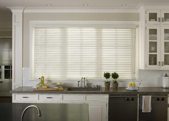 Moisture-Resistant Faux Wood Blinds #BudgetBlinds #ClearwaterBeach #home #decor #windowtreatments #blinds