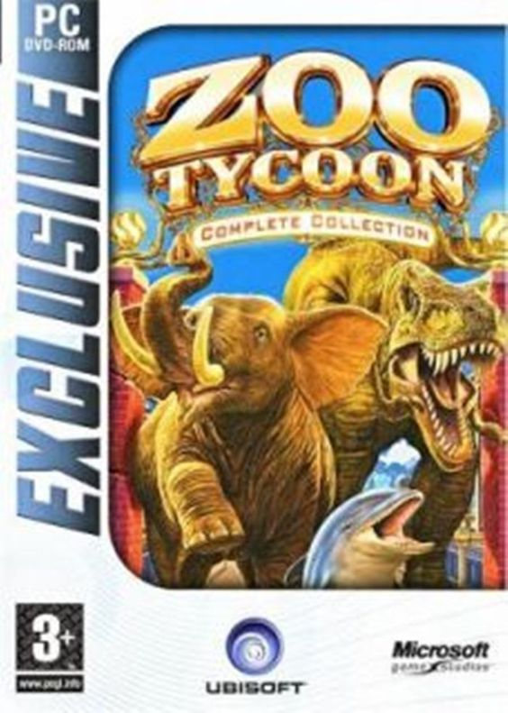 PC Games Zoo Tycoon Complete Collection For Kids Adults Microsoft DVD Zoo Animal #Microsoft