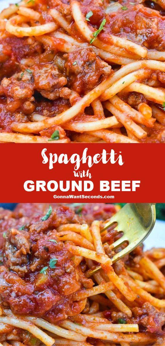 Spaghetti Recipe with Ground Beef